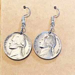 Jewelry - Sterling Silver 1954 Nickle Handmade Earrings